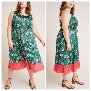 Anthropologie Mireille Pleated Dress Plus 2X
